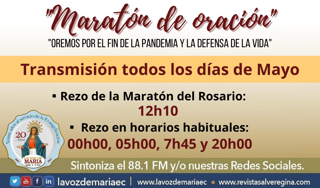 Maratón del Rosario por el fin de la pandemia